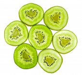 Abstract Green Kiwi Fruit