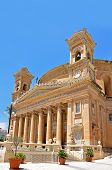 Church Rotunda Of Mosta Malta From The Right Side