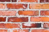 Old Variable Colored Brick Wall