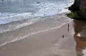 Algarve's beach - woman and child