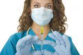 Beautiful Health Care Professional Prepares Needle