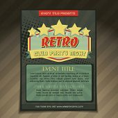 vector club party brochure flyer template design
