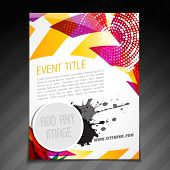vector event  brochure flyer template poster design
