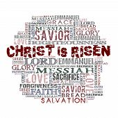"stock photo of risen  - ""Christ Is Risen"" Religious Words isolated on white - JPG"