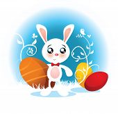 Easter Bunny Vector Cartoon