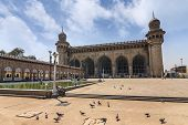 foto of masjid  - The Mecca Masjid at Hyderabad city India - JPG