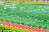 Soccer Football Field Running Track