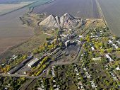 Miner's settlement (aerial view).