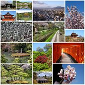 stock photo of inari  - Photo collage from Kyoto - JPG