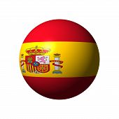 Sphere with Flag of Spain