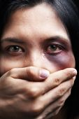 pic of domestic violence  - Woman being kidnapped and abused a concept for domestic violence - JPG