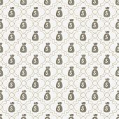 Brown And White Money Bag Repeat Pattern Background