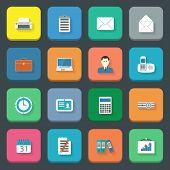 Office Flat Icons Set