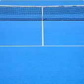 Tennis Court, Sport Blue Background