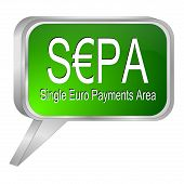 SEPA - Single Euro Payments Area - speech bubble