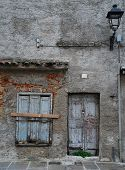picture of derelict  - An old derelict building in the beach town of Grado in north east Italy
