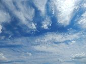 Bright Summer Sky In The Clouds