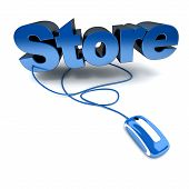 Online Store In Blue