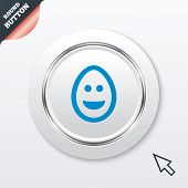 Smile egg face sign icon. Smiley symbol.
