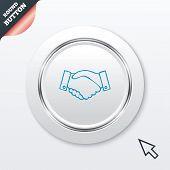 Handshake sign icon. Successful business symbol.