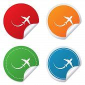 Airplane sign icon. Travel trip symbol.