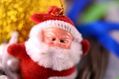 Santa Claus, Christmas Invitation Card, Close Up