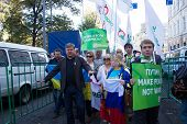 Leader of the party Yabloko Sergei Mitrokhin
