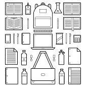 Icons: School Supplies