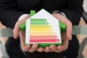 Hands Holding Energy Efficient House Model