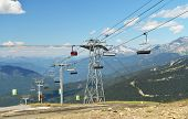 VANCOUVER, CANADA JULY 10: View of the Whistler chair lifts on July 10, 2014 From Whistler