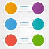Vector abstract circles template. Object design