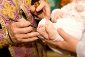 picture of christening  - christening ceremony child church - JPG