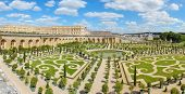 foto of versaille  - Orangery was designed by Louis Le Vau t is located south of the Palace Versailles Paris France - JPG