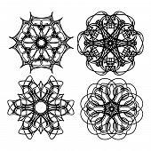 Set of Beautiful Decorative Vector Design Elements