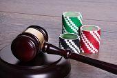 Gambling Legal Concept
