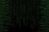 Green Matrix Background Computer Generated