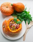 pumpkin stuffed with quinoa