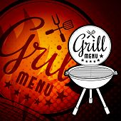image of barbecue grill  - Barbecue grill vector illustration on white background - JPG