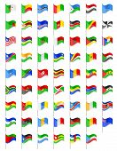 stock photo of longitude  - flags of Africa countries vector illustration isolated on white background - JPG