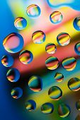 Water Droplets Colorful