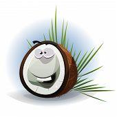 Cartoon Funny Coconut Character