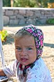Portrait of a village baby girl