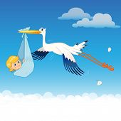 picture of baby delivery  - Flying Stork Delivery Baby - JPG