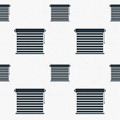Louvers sign icon. Window blinds or jalousie.