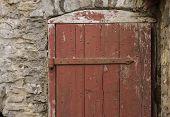 Rustic red door
