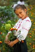 Girl Dressed In Ukrainian Folk Costume