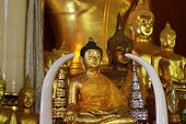 Golden Buddha statue in the Marble Temple
