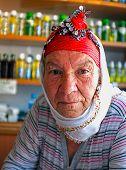 Elderly Turkish village woman