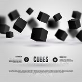 Vector Illustration Of 3D Cubes.