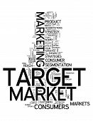 Word Cloud Target Market